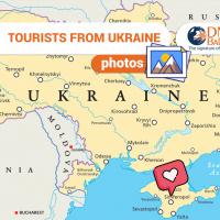 Tourists from Ukraine
